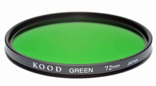 Kood High Quality Optical Glass Green Filter Made in Japan 72mm